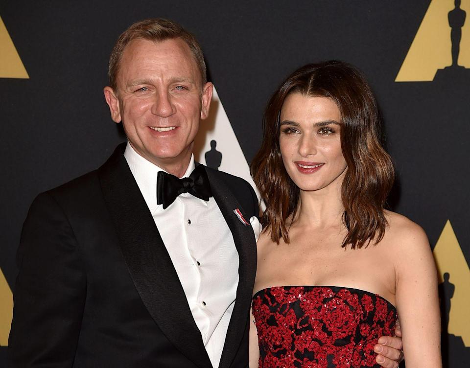 """<p>The Favourite actress Rachel Weisz and James Bond actor Daniel Craig <a href=""""https://www.bustle.com/p/rachel-weisz-daniel-craigs-relationship-timeline-goes-way-back-15954051"""" rel=""""nofollow noopener"""" target=""""_blank"""" data-ylk=""""slk:met for the first time in 1994 on a stage play"""" class=""""link rapid-noclick-resp"""">met for the first time in 1994 on a stage play</a> called Les Grandes Horizontales, but the duo fell in love while filming Dream House in 2010. They ended their respective relationships and <a href=""""https://www.marieclaire.com/celebrity/a26304724/daniel-craig-rachel-weisz-relationship/"""" rel=""""nofollow noopener"""" target=""""_blank"""" data-ylk=""""slk:got married in 2011"""" class=""""link rapid-noclick-resp"""">got married in 2011</a>. </p><p>They are so private about their marriage that you probably didn't even know they are married. That's an impressive feat for two very famous people.</p>"""