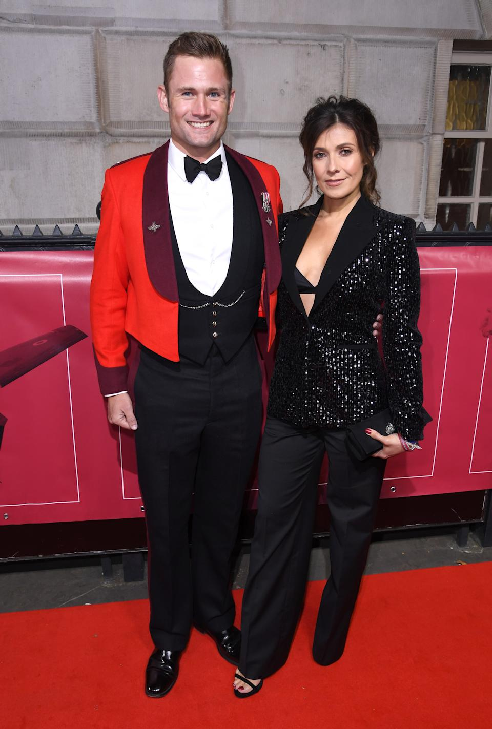 Kym Marsh and Scott Ratcliffe arriving at The Sun Military Awards 2018 held at Whitehall, London. Photo credit should read: Doug Peters/EMPICS