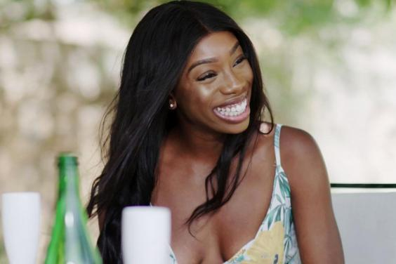 Yewande shares a date with Danny on Love Island (Photo by ITV/REX)