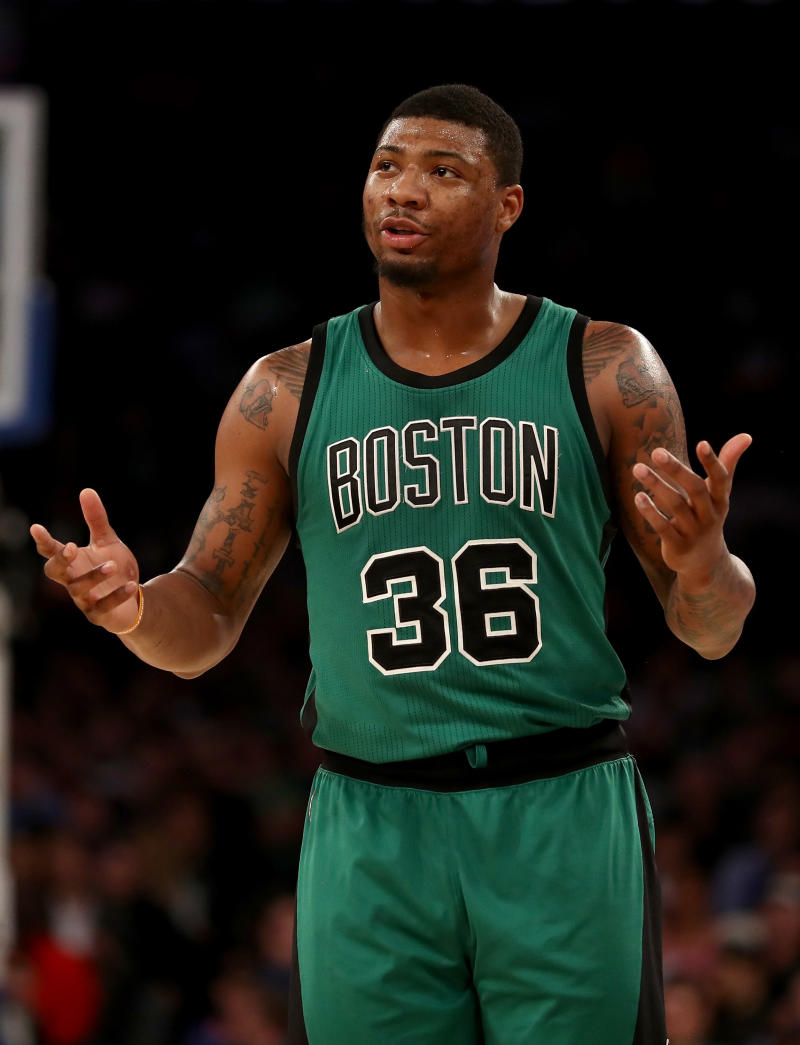 Basketball - Celtics guard Smart fined for obscene gesture toward fan