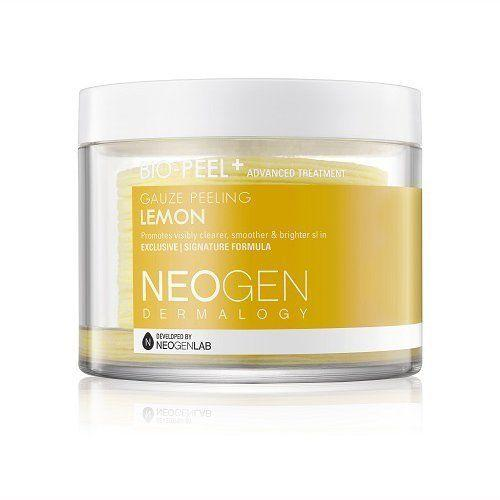 """An effective peel treatment for under $20? We're beaming, too. This product will leave your skin smoother and clearer with its gentle yet effective exfoliation of dead skin cells. Get it <a href=""""https://www.amazon.com/Neogen-Bio-Peel-Gauze-Peeling-Milliliter/dp/B019RULW50/ref=pd_sim_194_1?_encoding=UTF8&psc=1&refRID=ZWVE0D9KN4WSF38GFKGP"""" target=""""_blank"""">here</a>."""
