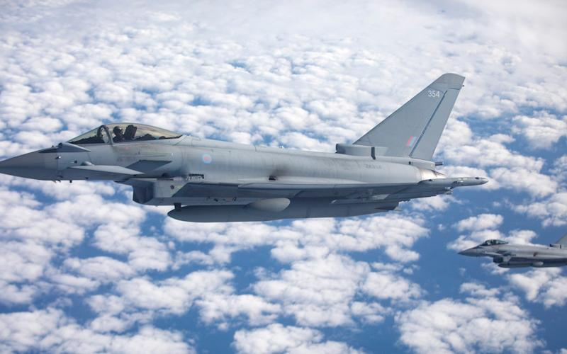 Typhoons were scrambled in response to Russian planes -  Crown Copyright