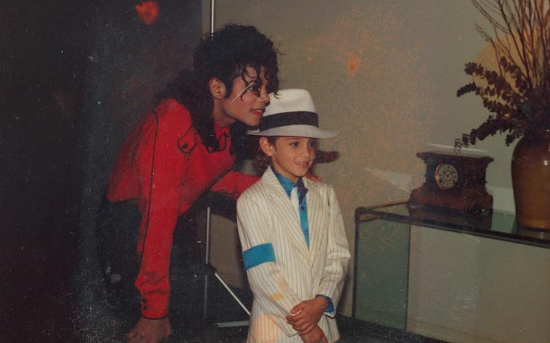 Michael Jackson and a young Wade Robson, in a photograph used in Leaving Neverland - All photos are copyrighted and may be used by press only for the purpose of news or editorial covera