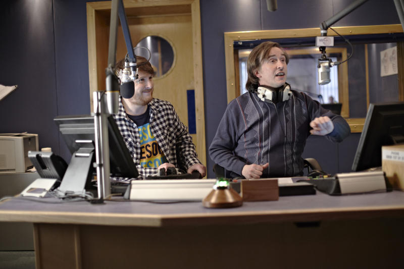 "This image released by Magnolia Pictures shows Tim Key, left, and Steve Coogan in a scene from ""Alan Partridge."" (AP Photo/Magnolia Pictures, Simon Thorpe)"