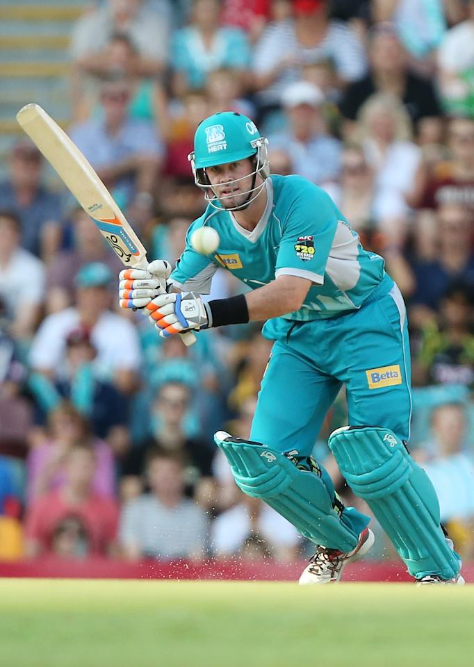BRISBANE, AUSTRALIA - DECEMBER 09:  Dan Christian of the Heat bats during the Big Bash League match between the Brisbane Heat and the Hobart Hurricanes at The Gabba on December 9, 2012 in Brisbane, Australia.  (Photo by Chris Hyde/Getty Images)