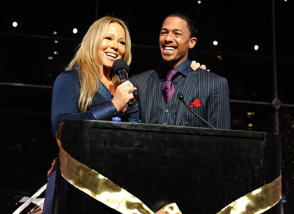 """The <i>National Enquirer</i> says Mariah Carey and Nick Cannon's long-awaited baby news is """"ripping them apart."""" According to the mag, """"Mariah is driving Nick crazy,"""" and """"thinks nothing of waking Nick at 4 a.m. to have him race out"""" and buy her things. The <i>Enquirer</i> reveals Cannon """"finally hit his breaking point"""" and """"yelled at Mariah, 'Stop treating me like your puppy dog!'"""" Find out how bad things are between them and read what an insider says over at <a href=""""http://www.gossipcop.com/mariah-carey-pregnancy-mood-swings-cravings-nick-cannon/"""" target=""""new"""">Gossip Cop</a>. Kevin Mazur/<a href=""""http://www.wireimage.com"""" target=""""new"""">WireImage.com</a> - October 20, 2010"""