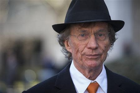 Texas investor Samuel Wyly exits the Manhattan Federal Court in New York
