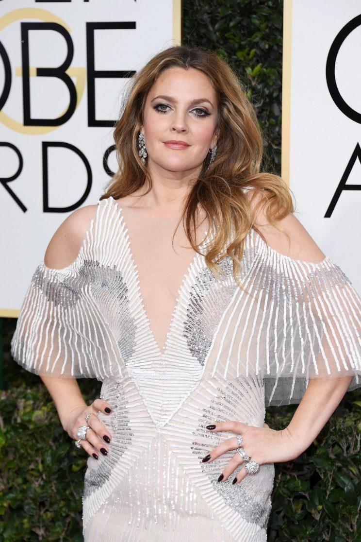 Drew Barrymore attends the 74th Golden Globe Awards. (Photo: Getty Images)