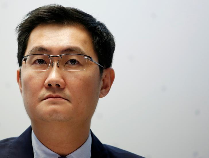 FILE PHOTO: Tencent Holdings Ltd Chairman and CEO Pony Ma attends a news conference in Hong Kong