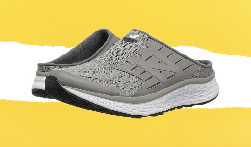 "Slide in and say ""ah!"" These New Balance slip-ons nestle your feet in comfort. (Photo: Zappos)"