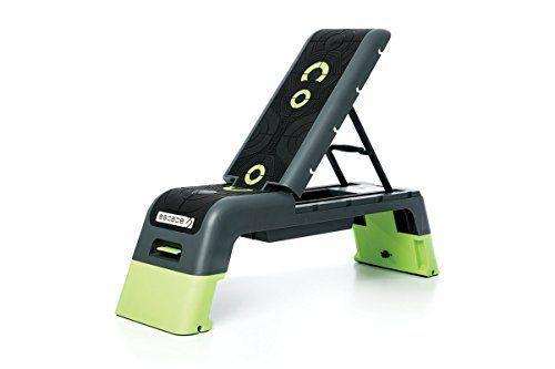 """<p><strong>Escape Fitness USA</strong></p><p>amazon.com</p><p><strong>$189.99</strong></p><p><a href=""""https://www.amazon.com/dp/B00KTX6WEG?tag=syn-yahoo-20&ascsubtag=%5Bartid%7C2140.g.32083891%5Bsrc%7Cyahoo-us"""" rel=""""nofollow noopener"""" target=""""_blank"""" data-ylk=""""slk:Shop Now"""" class=""""link rapid-noclick-resp"""">Shop Now</a></p><p>This workout deck is basically a bigger, better aerobic step. Whether you want to strength train or practice your plyometrics, this easy-to-transform deck has 16 possible configurations, including a low aerobic step and high flat and incline benches. (It even has hook-ups for resistance bands.) </p>"""