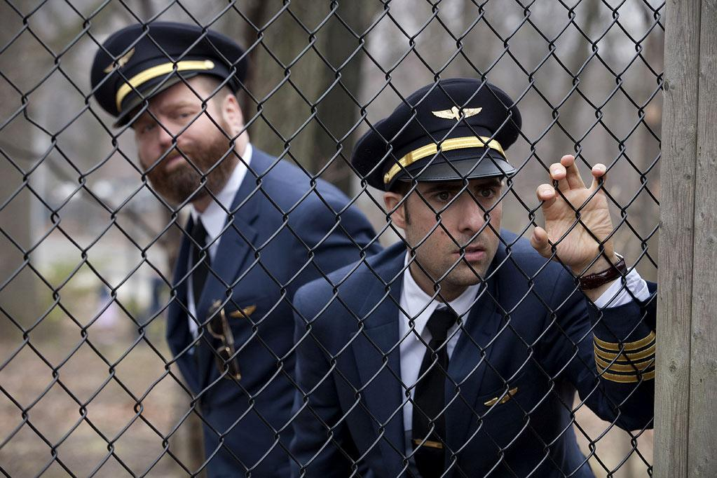 "Zach Galifianakis as Ray and Jason Schwartzman as Jonathan in ""Bored to Death."""