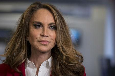 FILE PHOTO: Political blogger Pamela Geller, American Freedom Defense Initiative's Houston-based founder, speaks during an interview in New York, NY, U.S. on May 28, 2015.  REUTERS/Brendan McDermid/File Photo