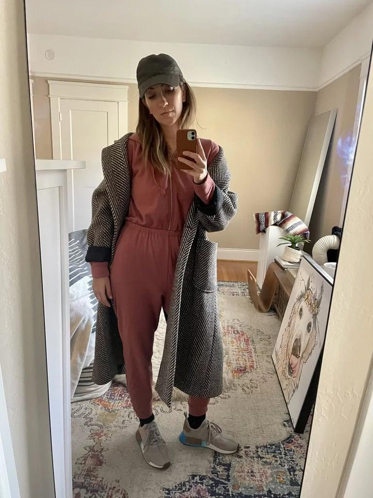 """<p><strong>The item:</strong> <span>Old Navy Cozy Zip-Front Hoodie Jumpsuit</span> (Sold Out)</p> <p><strong>What our editor said:</strong> """"The Cozy Zip-Front Hoodie Jumpsuit is the perfect marriage between a 24/7 jumpsuit and pajamas. It had glowing reviews, so I had to check it out for myself.</p> <p>It did not disappoint. It's incredibly soft on the inside, has a built-in hood that I use all the time, pockets, and a cinched waistband, which makes the whole thing a bit more flattering than a traditional onesie."""" - RB </p><p>If you want to read more, here is the <a href=""""http://www.popsugar.com/fashion/cozy-pajama-jumpsuit-at-old-navy-editor-review-48003032"""" class=""""link rapid-noclick-resp"""" rel=""""nofollow noopener"""" target=""""_blank"""" data-ylk=""""slk:complete review"""">complete review</a>.</p>"""