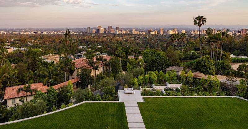 The home as a spectacular view of downtown Los Angeles.