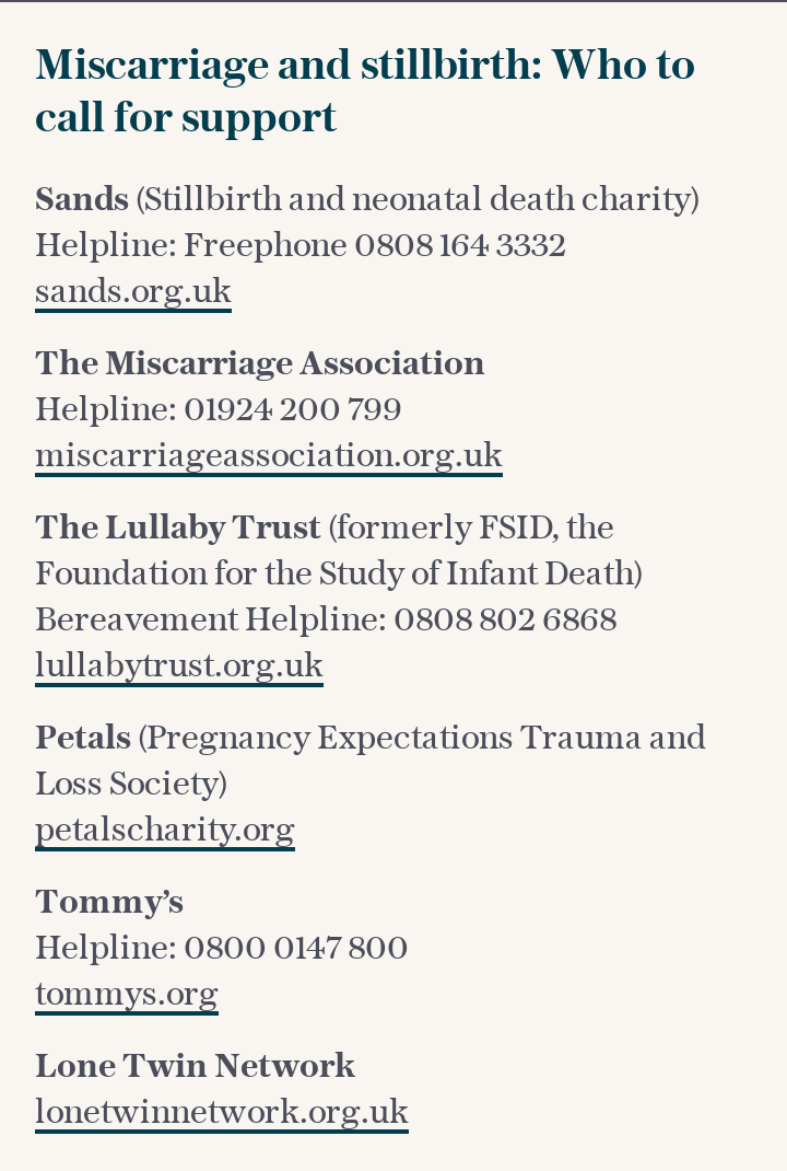 Miscarriage: Who to call for support
