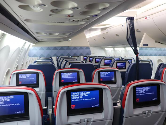 Delta Air Lines aircraft cabin