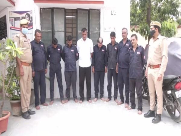 Noida housing security guards assault 2 residents; 8 arrested. (Photo/ANI)