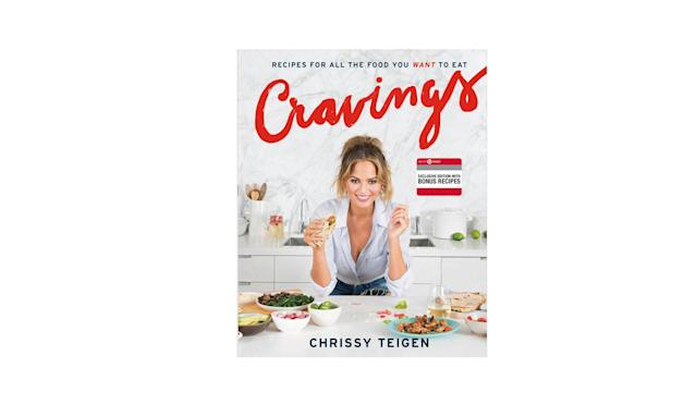 "<p>Book by Chrissy Teigen and Adeena Sussman, $21, <a href=""https://www.target.com/p/cravings-recipes-for-all-the-food-you-want-to-eat-by-chrissy-teigen-and-adeena-sussman-hardcover-by-chrissy-teigen/-/A-50461139?sid=1055S&ref=tgt_adv_XS000000&AFID=google_pla_df&CPNG=PLA_Entertainment+Shopping_Local&adgroup=SC_Entertainment&LID=700000001170770pgs&network=g&device=c&location=9004352&gclid=EAIaIQobChMIrYSy1s3b1wIV1LbACh3a_AsdEAYYASABEgLcJvD_BwE&gclsrc=aw.ds"" rel=""nofollow noopener"" target=""_blank"" data-ylk=""slk:target.com"" class=""link rapid-noclick-resp"">target.com</a> </p>"