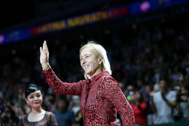 LGBT group Athlete Ally cut ties with Martina Navratilova over her anti-trans comments in the Sunday Times. (Getty Images)