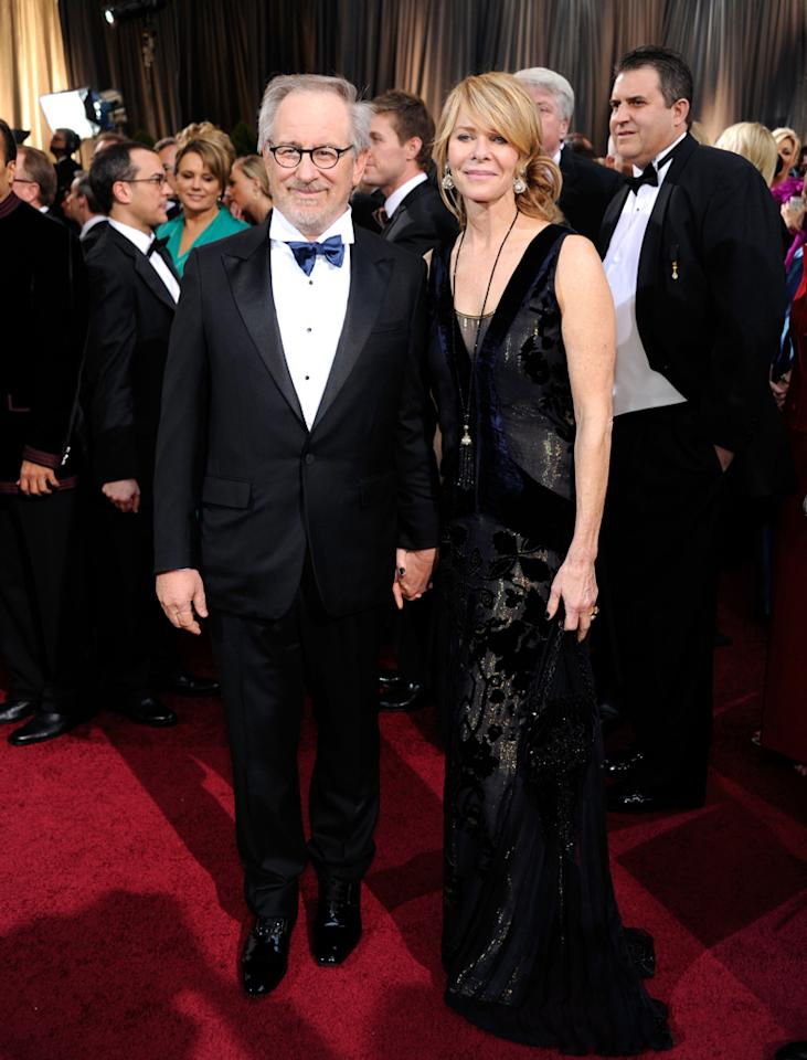 Steven Spielberg and his wife Kate Capshaw arrive at the 84th Annual Academy Awards in Hollywood, CA.