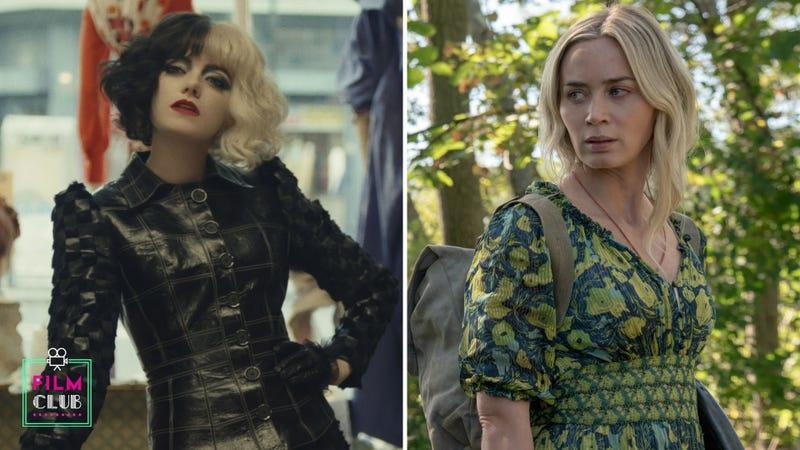 Emma Stone in Cruella (Photo: Disney); Emily Blunt in A Quiet Place: Part II (Photo: Jonny Cournoyer / Paramount Pictures)