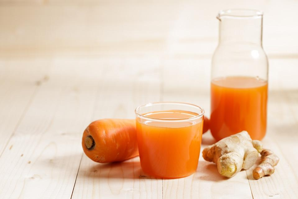 Carrots, ginger, turmeric in this immunity juice shot