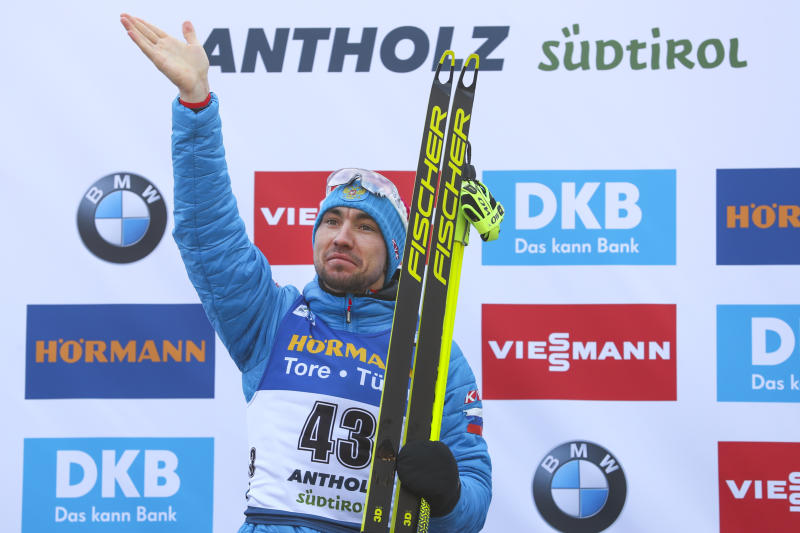 Biathlon champ Loginov searched in doping raid in Italy