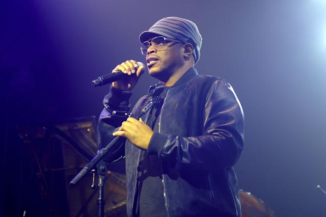 Sway Calloway speaks onstage at VH1 Save The Music 20th Anniversary Gala in New York City.
