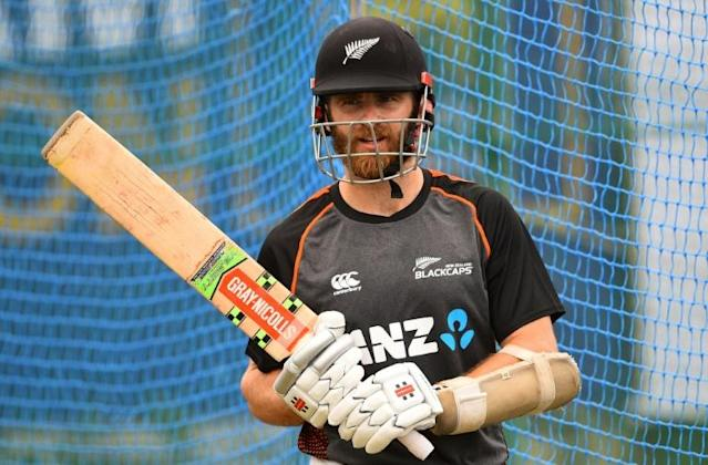 New Zealand captain Kane Williamson looks on during a net session at the Galle International Cricket Stadium in Galle (AFP Photo/ISHARA S. KODIKARA)