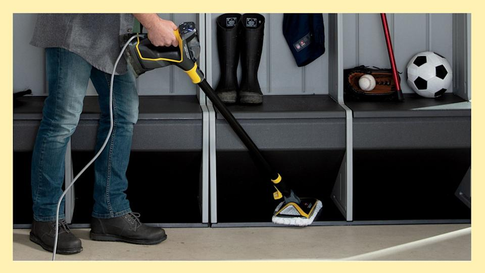 The Bissell Heavy Duty Steam Mop is on sale now through Amazon.