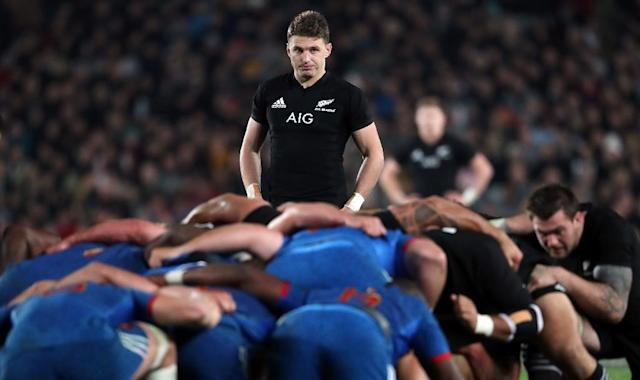 Beauden Barrett was taken from the field in the 12th minute of the first Test and failed a concussion test after a mid-air collision with France's Benjamin Fall (AFP Photo/MICHAEL BRADLEY)