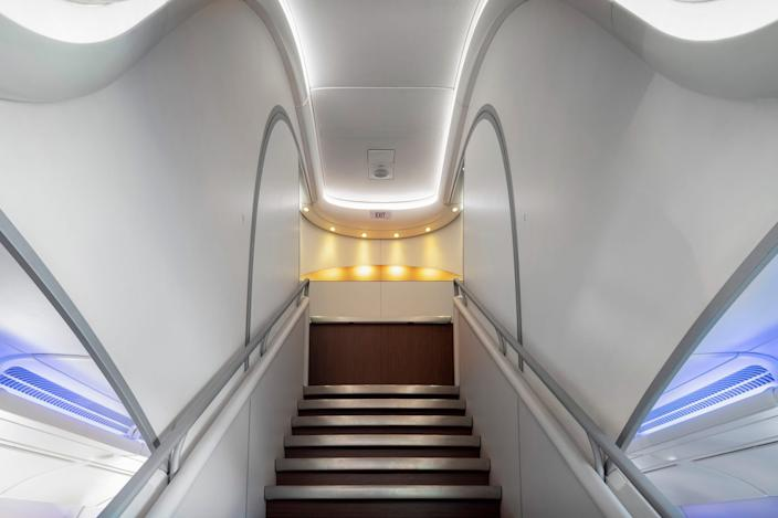 Inside a Hi Fly Airbus A380.