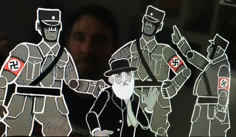 "A screenshot of a historical resistance strategy video game ""Through the Darkest of Times"", featuring officers wearing the Nazi swastika, which can now be sold in Germany"