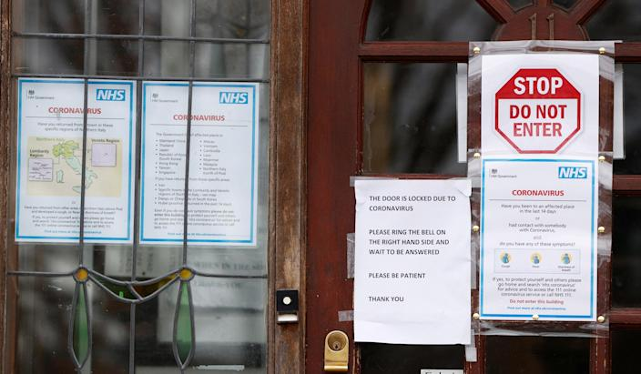 Image: A doctors surgery in north London (John Sibley / Reuters)