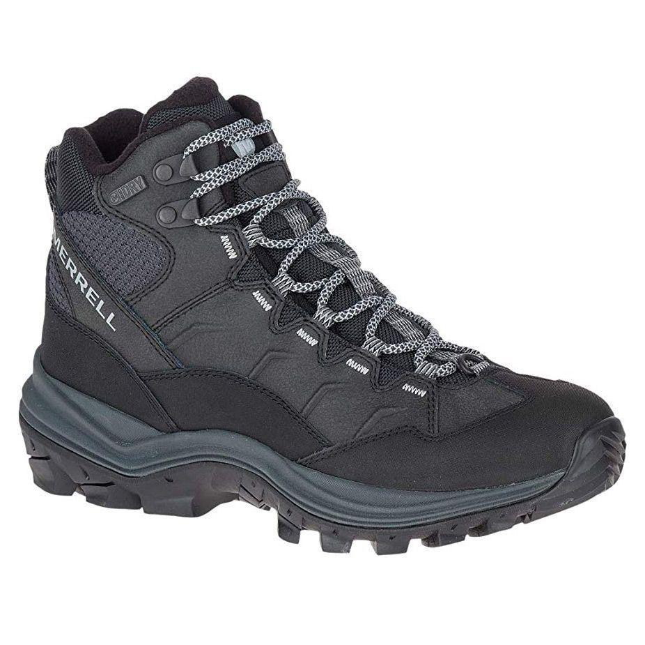 """<p><strong>Merrell</strong></p><p>amazon.com</p><p><strong>$120.00</strong></p><p><a href=""""https://www.amazon.com/dp/B07BB3GXPQ?tag=syn-yahoo-20&ascsubtag=%5Bartid%7C10055.g.29389536%5Bsrc%7Cyahoo-us"""" rel=""""nofollow noopener"""" target=""""_blank"""" data-ylk=""""slk:Shop Now"""" class=""""link rapid-noclick-resp"""">Shop Now</a></p><p>When hiking in the winter, your summer boots just won't keep you warm enough. These hiking boots by Merrell are specifically <strong>designed for winter hiking with 200 grams of insulation</strong><strong> and a strong rubber sole </strong>for excellent traction. With a leather, mesh, and nylon upper, these boots are designed to be mostly waterproof with some areas allowing more air in. </p>"""