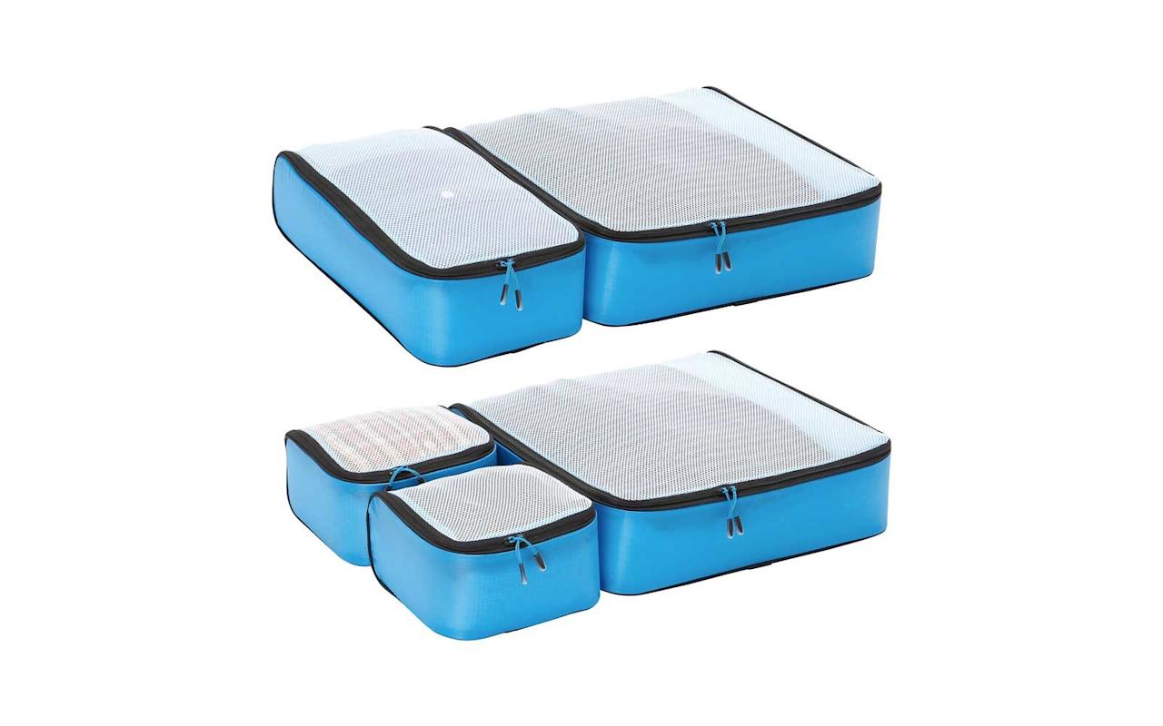 "<p>This rave-reviewed set includes five super-lightweight (the entire set weighs only 8 ounces) cubes of varying size that are each a perfect fraction of the others to ensure a painless fit in most typical carry-on suitcases. The nylon boxes have a spring-loaded frame design that holds the shape while you're filling them but compresses down easily for storage.</p> <p>To buy: <a href=""http://ebags.evyy.net/c/249354/207595/3588?subId1=TL%2CYouCanFinallyOrganizeYourSuitcaseLikeaProWithThesePackingCubes%2Cchenk%2CPAC%2CGAL%2C573476%2C201910%2CI&u=https%3A%2F%2Fwww.ebags.com%2Fproduct%2Febags%2Fultralight-packing-cubes-super-packer-5pc-set%2F309406%3Fproductid%3D10408195"" target=""_blank"">ebags.com</a>, $65</p>"