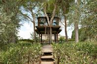 """This one-bedroom also made it on to our list of the coolest <a href=""""https://www.cntraveler.com/gallery/treehouses-vacation-rentals?mbid=synd_yahoo_rss"""" rel=""""nofollow noopener"""" target=""""_blank"""" data-ylk=""""slk:Airbnb treehouses"""" class=""""link rapid-noclick-resp"""">Airbnb treehouses</a>—and for good reason. Located just 20 minutes outside of <a href=""""https://www.cntraveler.com/destinations/florence?mbid=synd_yahoo_rss"""" rel=""""nofollow noopener"""" target=""""_blank"""" data-ylk=""""slk:Florence"""" class=""""link rapid-noclick-resp"""">Florence</a> in Galluzzo, its interior design is as quirky as its metal exterior, with a marble kitchen sink, wrap-around terrace, antique wood-burning stove, and walls covered in chalkboard paint. Surrounded by olive groves, this treehouse is an Airbnb Plus, meaning it's passed that 100-point inspection, plus guests get access to the main house's pool and tennis courts. $295, Airbnb (Starting Price). <a href=""""https://www.airbnb.com/rooms/plus/1621152"""" rel=""""nofollow noopener"""" target=""""_blank"""" data-ylk=""""slk:Get it now!"""" class=""""link rapid-noclick-resp"""">Get it now!</a>"""