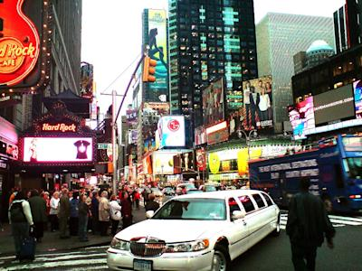 new york city times square limo