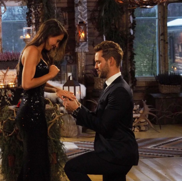 "<p><strong>After the final rose:</strong> Two failed proposals on <em>The Bachelorette</em> (Andi Dorfman and Kaitlyn Bristowe) and one unsuccessful <em>Bachelor in Paradise</em> relationship later, Viall finally found success with Canadian special education teacher Vanessa Grimaldi.<br><strong>Where are they now:</strong> Seeing as Viall and Grimaldi barely discussed which country they were going to live in before getting engaged, it's not so surprising that their fairy tale crashed and burned by summer. They announced their split in August, ""with a great amount of heartbreak.""<br>(Photo: ABC) </p>"