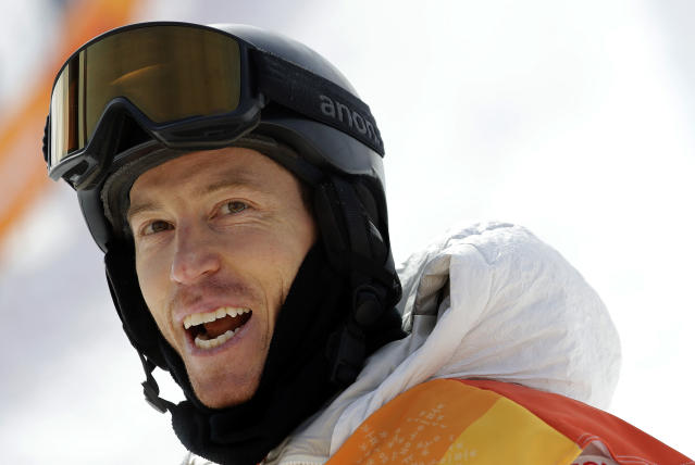 <p>Shaun White, of the United States, looks at his score after his run during the men's halfpipe qualifying at Phoenix Snow Park at the 2018 Winter Olympics in Pyeongchang, South Korea, Tuesday, Feb. 13, 2018. (AP Photo/Lee Jin-man) </p>