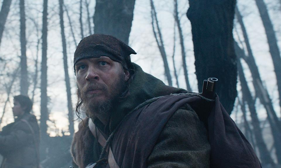 <p>Hardy reteamed with his 'Inception' co-star Leonardo DiCaprio for Alejandro G. Iñárritu's Oscar-winning tale of survival, and his performance as the double-crossing John Fitzgerald was rewarded with the actor's first ever Academy Award nomination. It's well deserved too. </p>