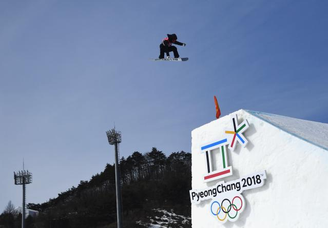 Snowboarding - Pyeongchang 2018 Winter Olympics - Men's Big Air Qualifications - Alpensia Ski Jumping Centre - Pyeongchang, South Korea - February 21, 2018 - Peetu Piiroinen of Finland competes. REUTERS/Toby Melville