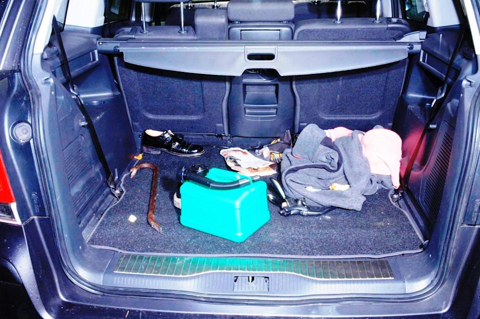 Undated Metropolitan Police handout photo of a crowbar in the boot of the Vauxhall Zafira which Delroy Grant used to enter a house on October 18, 2009. Night Stalker Delroy Grant has been convicted of being one of the most prolific and depraved sex attackers in British history.