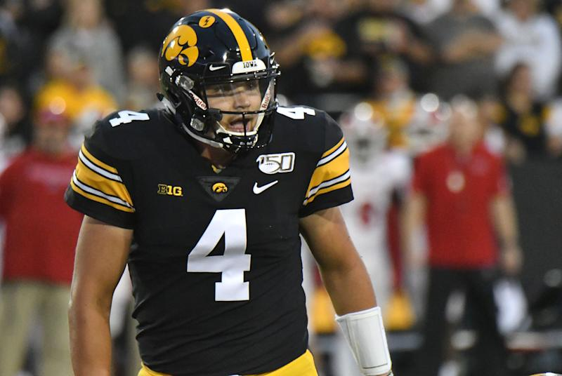 Iowa QB Nate Stanley has played two good games so far, but can he be special against Iowa State? (Getty Images)
