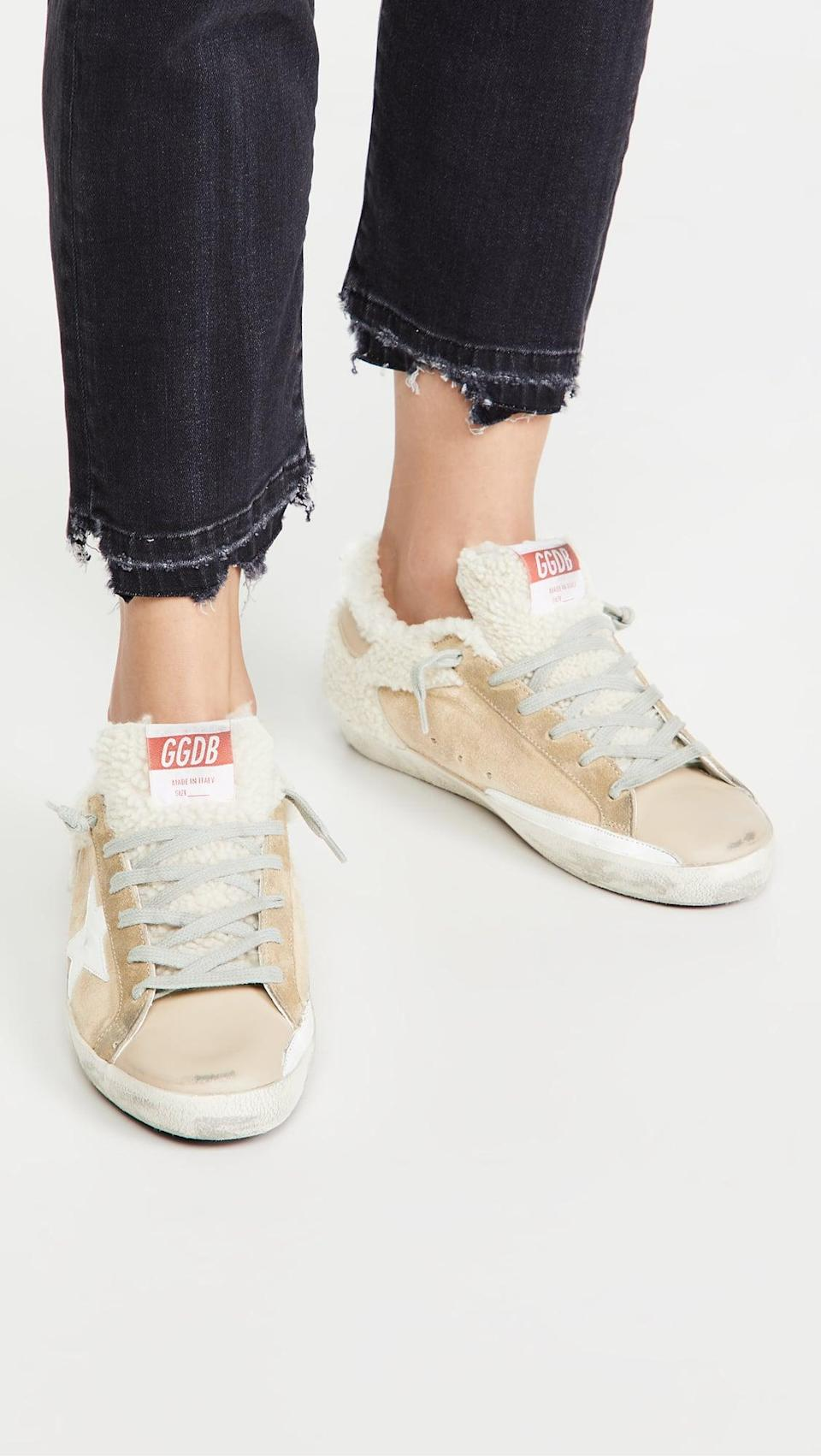 <p>These cozy <span>Golden Goose Superstar Sneakers</span> ($635) will be beloved for seasons.</p>