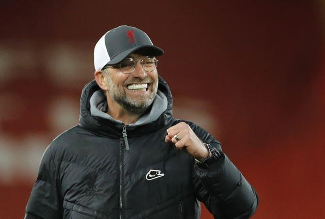 Jurgen Klopp has challenged Liverpool to win their last four matches (Phil Noble/PA)