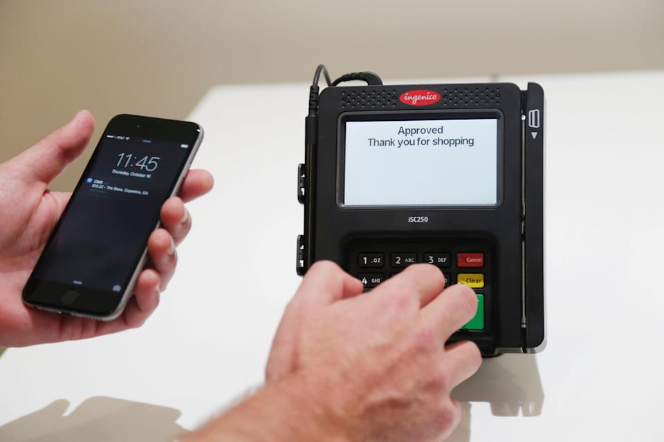 Apple Pay on a smartphone