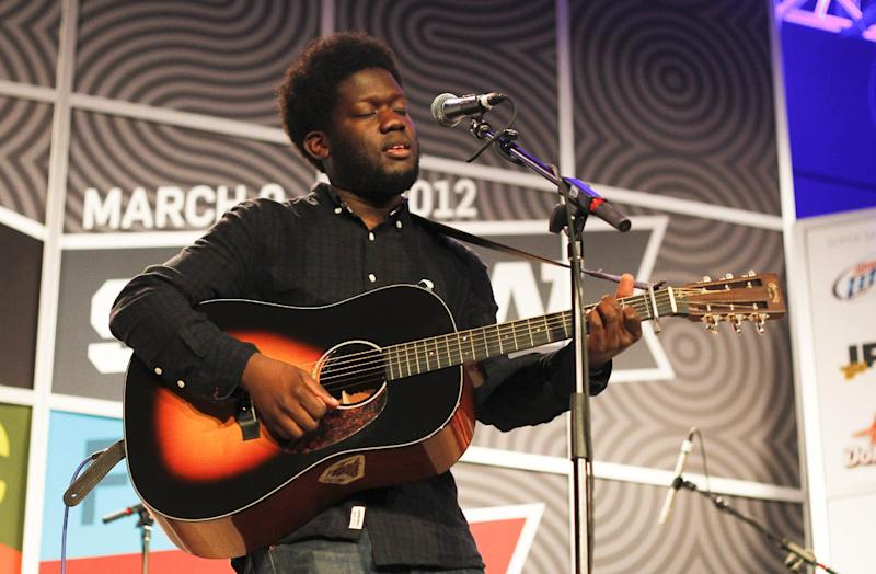 British soul singer Michael Kiwanuka performs at the SXSW Music Festival in Austin, Texas on Wednesday, March 14, 2012. (AP Photo/Jack Plunkett)