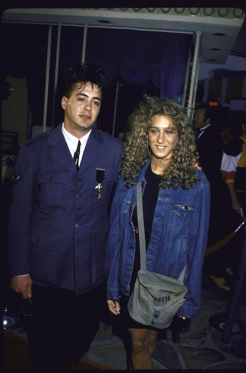 <p>The rising star, who was on the cusp of starring on <em>Saturday Night Live </em>at this point, attended the premiere of the CBS Television Movie <em>Going for the Gold: The Bill Johnson Story </em>with his then-girlfriend Sarah Jessica Parker. </p>